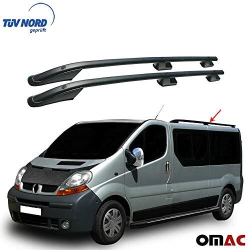 OMAC GmbH Dachreling Alu Schwarz für Primastar Vivaro Trafic 2001-2014 TÜV ABE