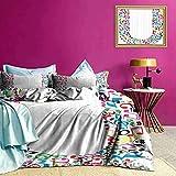 Tagesdecken-Bettwäscheset Buntes U ABC-Muster-Bettwäscheset lässt den Raum EIN bisschen mehr platzen
