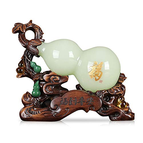 decoración del hogar Decoración de la oficina para escritorio Adornos de calabaza China Lucky Fulu, Home Sala de estar Entrada Gabinete de vino Adornos de decoración, simboliza la salud y la buena sue