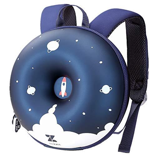 ZoyZ Kinder 3D Donut Rucksack, süße Kleinkind Donut Schultasche Kids Creative Backpack (Explorer)