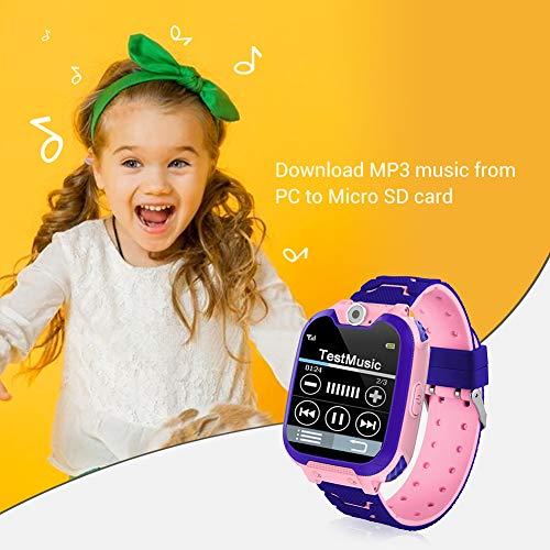 Niños Smartwatch Phone, Smart Watch Phone con Reproductor de música, SOS, Pantalla...