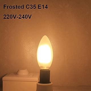 C35 E14 LED Candle COB Bulb E27 A60 2W 4W 6W 8W Falme Lamp G45 Glass Bulb for Chandelier loft Decor Warm white-C35 Frosted_8w_Warm White