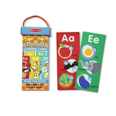 Melissa & Doug Poke-A-Dot Jumbo Alphabet Learning Cards