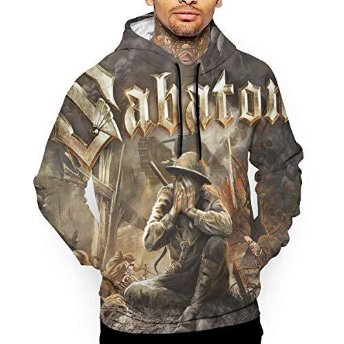 THWTHGTR Sabaton Man's 3D gedruckte grafische Hoodie-Strickjacke-Art- und Weiselange H¨¹lsen-Oberseiten-mit Kapuze Sweatshirts