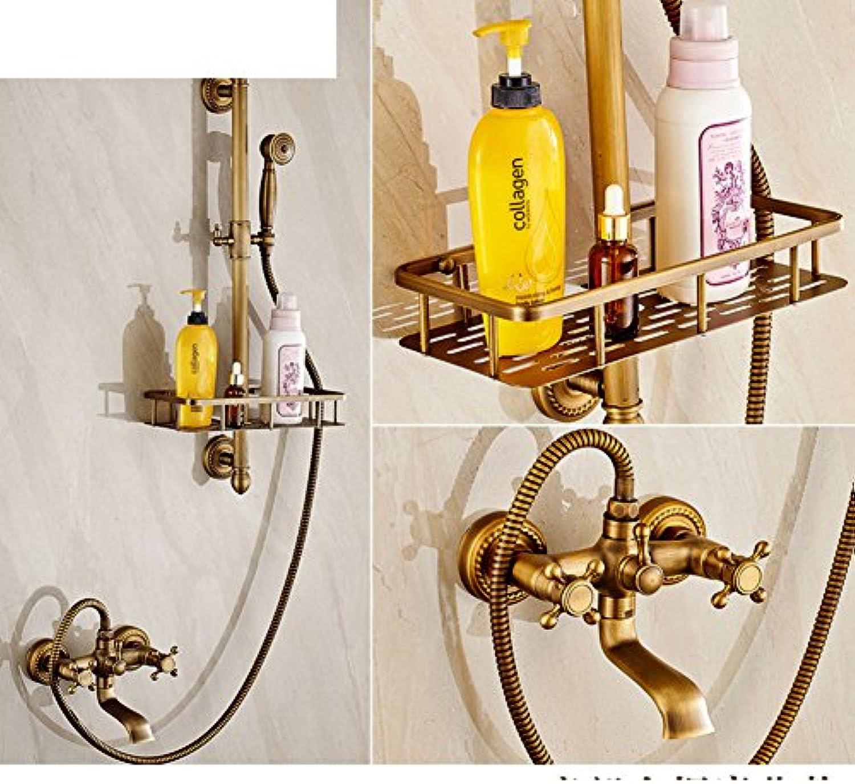 European-Style Antik Kupfer Duschkopf Retro-Bad Badewanne Dusche Mixer einfache Dusche Kit-A