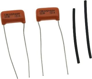 Set of 2 Sprague Guitar Bass 225P Orange Drop Capacitor Caps .022uF 400v Guitar Tone Cap Capacitors