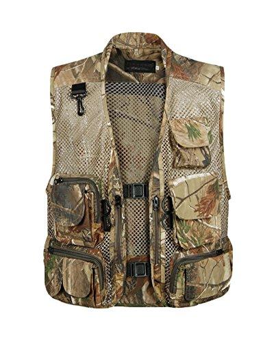 Homme Outdoor Gilet De Travail Multi-Poches Zipper sans Manches Waistcoat Pêche Escalade Photography Légère Casual Vests M