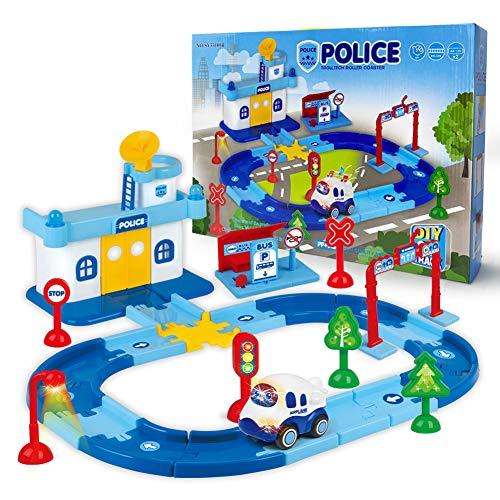 Edenseelake Race Car Track for Kids Boy Toy Police Theme Cars Toys Playset...