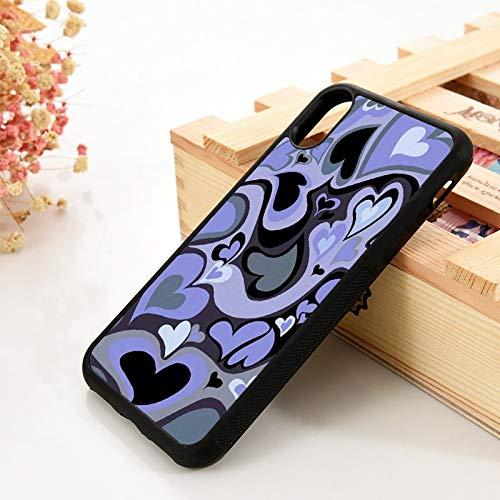 WGOUT para iPhone 5 5S 6 6S Funda de Gel de sílicepara iPhone 7 Plus X XS 11 12 Mini Pro MAX XR Purple Heart Swirl Pola, para iPhone 7