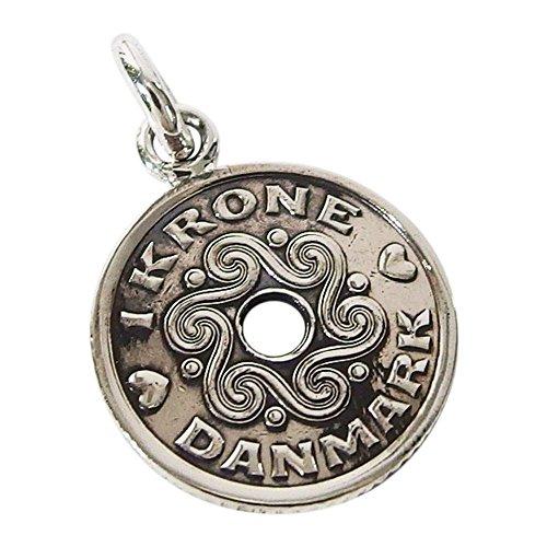 本物のデンマークのコインペンダント(2) コイン 硬貨 アクセサリー メンズ レディース 海外