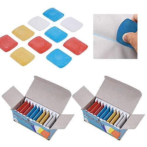 Tizas Sastre Tela,Xiuyer 30pcs Profesionales Borrables Coser Costura Tiza Sastres Tizas Marcador Para Manualidades Marcadores Bolígrafos Costura