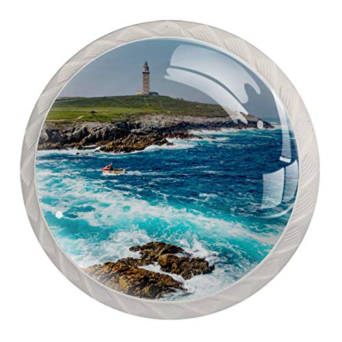 Tirador de manijas de cajón para el hogar, cocina, tocador, armario-Torre de Hércules en A Coruña