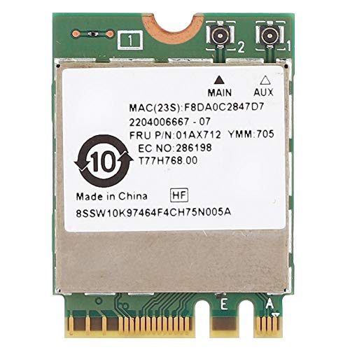 Annadue Tarjeta de Red inalámbrica, Interfaz RTL8822BE con Chip de Tarjeta de Red Ngff/m.2, Compatible con Bluetooth 4.0 y WiFi, Apto para Thinkpad P51S S5 T470 T570 X270 Yoga