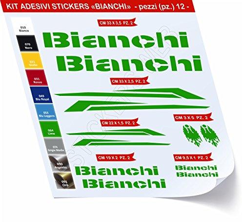 Pimastickerslab sticker voor fiets, Bianchi_Kit 3_Kit stickers, 12 stuks