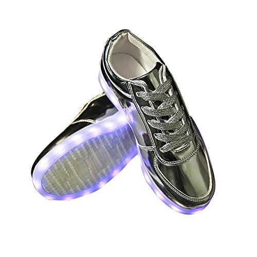 Dragon868 Damen Mode LED Schuhe USB-Aufladung leuchten Glow-Turnschuhe blinken Leuchtend Freizeitschuhe Sneaker