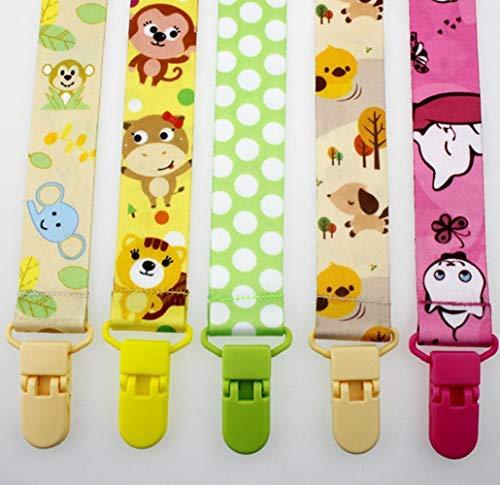 6-pack babyfopspeenclip, ALITREND fopspeenhouder voor jongens en meisjes Past op alle fopspenen en babyspeelgoed en babydouchecadeaus