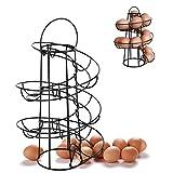 Minocool Egg Rack Spiral Egg Holder, Egg Rack with Metal Spiral Design, Egg Holder Stand Egg Basket Storage Shelf Egg Stand Rack for Home Kitchen Living Room
