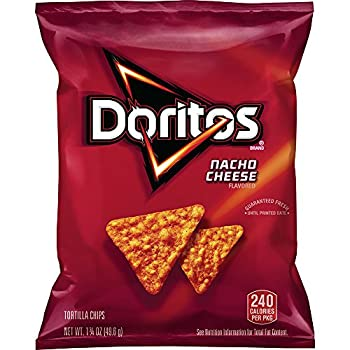 Doritos Nacho Cheese Flavored Tortilla Chips 1.75 Ounce  Pack of 64