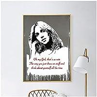 グラフィティストリートウォールアートバンクシーキャンバスアートプリントポスター絵画アート、リビングルームの女の子の写真の壁の装飾家の装飾-50x70cmフレームなし