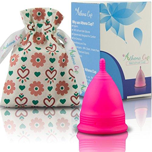 Coupe Menstruelle Athena - Garantie Sans Fuites Ou Démangeaisons - Silicone Très Douce Et à Peine Perceptible - Taille 2, Rose Mat