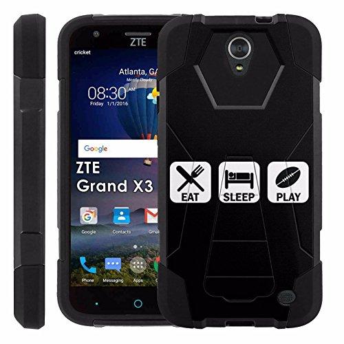 ZTE [Uhura Grand X3] Z959 Proton Guard Dual Layer Phone Case - Eat Sleep Football