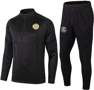 zhaojiexiaodian, Paris Black Camiseta de Manga Larga de fútbol Primavera y otoño Chaqueta Apariencia Adultos Sudaderas Trajes de Entrenamiento
