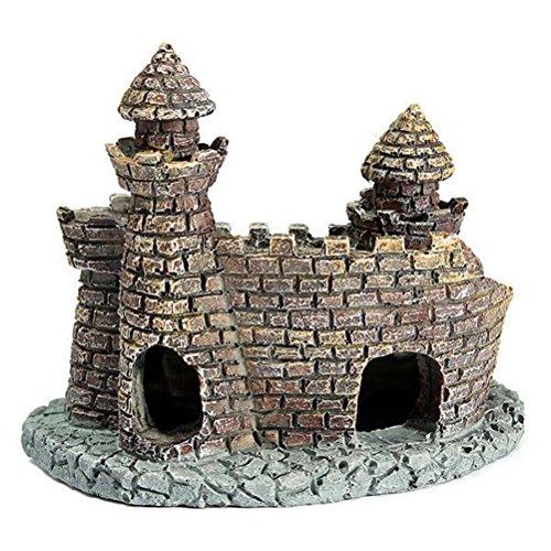 ueetek Antique Mini Castle Paysage Poisson Ornement Hideaway Aquatic Fish Tank Aquarium Décoration