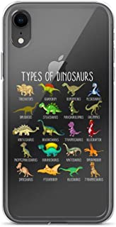 iPhone 7 Plus/8 Plus Pure Clear Case Transparent Cases Cover Kids Types of Dinosaurs Dino Identification Tee Pink Crystal Clear