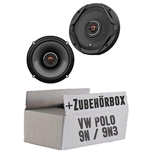 JBL GX602   2-Wege   16,5cm Koax Lautsprecher - Einbauset für VW Polo 9N 9N3...