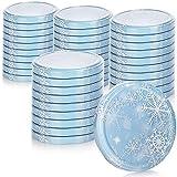 COM-FOUR® 40x tapas de repuesto en diseño de invierno para tarros de mermelada...