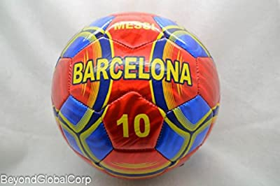 New High Quality Outdoor Sport Soccer Fan 2014 World Cup Barcelona Messi #11 Soccer Ball Size 5!