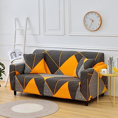 PPOS Fundas de sofá Florales Fundas de sofá para Sala de Estar Funda elástica elástica Fundas de sofá seccionales de Esquina A3 3 Asientos 190-230cm-1pc