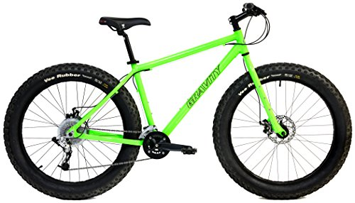 Lowest Price! Aluminum Fat Bikes with Powerful Disc Brakes Gravity Monster Mens Fat Tire Bicycle 26...