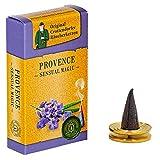 Crottendorfer Sensual Magic Räucherkerzen - Größe: M - 20 Stück + Messing Teller - Duft: Provence - Made in Germany