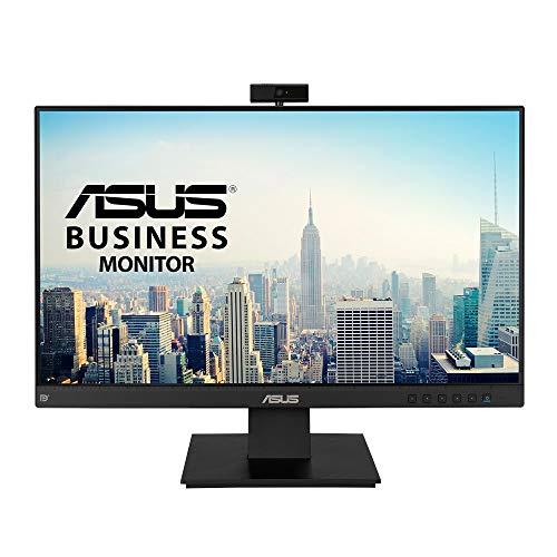 ASUS BE24EQK - Monitor de negocio de 24' | 60 Hz (Full HD, IPS, 1920x1080, Webcam, sin marco, luz azul de baja intensidad, cámara Full HD, matriz de micrófonos y altavoces estéreo), Negro