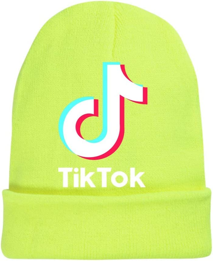 XFZDP Boy Girl Bambini Beanie TIK Tok Cappello Autunno Inverno Solido di Colore Warm Knit cap,A1