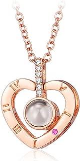 Best heart pendant projection necklace Reviews