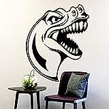 yaonuli Patrón de Cabeza de Dinosaurio Etiqueta de la Pared Mural extraíble habitación de los niños decoración del hogar Mural 58X86cm