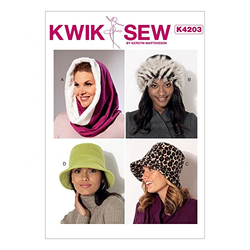KWIK SEW Damen-Schnittmuster 4203 Kapuze, Beanie und Eimerhüte