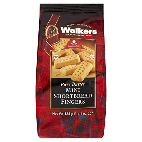 Walkers Mini Shortbread Fingers Postre - 3 Paquetes de 1 x 125 gr - Total: 375 gr