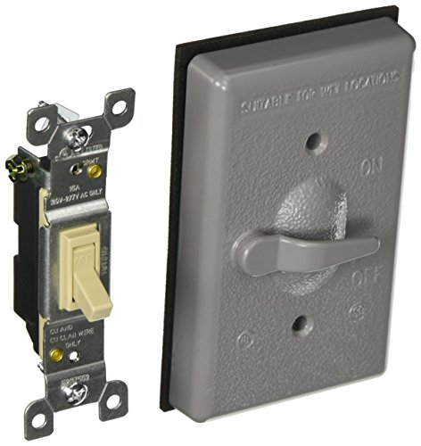 HUBBELL 5121-0 GRAY WP COVER/SWITCH