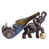 Brightz Vino Europea Gabinete Creativo decoración Elefante Tire de Coches Modelado Estante del Vino Resina Bronce Crafts Inicio de Escritorio Porche Restaurante Bar decoración Elegante y Hermosa