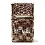 Riviera Maison - Rustic Rattan - Recycle - Tischmülleimer - Peddigrohr - Natur - (BxHXL) 13 x 13 x 21cm - 3