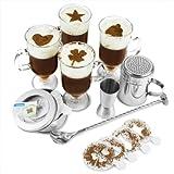 bar@drinkstuff Irish Coffee service 4 bicchieri di caffè irlandese, 16 stampini per caff�...