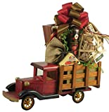 Gift Basket Village Special Delivery For Him - A Gift Basket For Dad With Wooden Truck Loaded With Snacks - Makes A Great Father's Day Gift Basket Or Birthday Gift For Men, Brown/Black