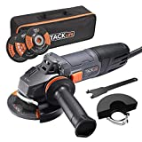 Angle Grinder, 4-1/2-Inch, 8.5Amp(1000W) & 12000RPM with Anti-Vibration Handle for Grinding/Polishing/Cutting,1 Grinding Wheel,1