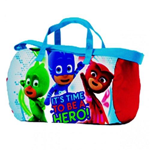 Duffel de voyage et depuis gymnase enfants super pyjamas PJ MASKS Rouge (43x23x23cm) Multicolore 95771