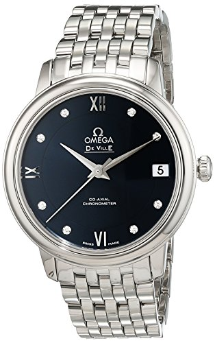 Omega Damen-Armbanduhr Analog Automatik Edelstahl 42410332053001