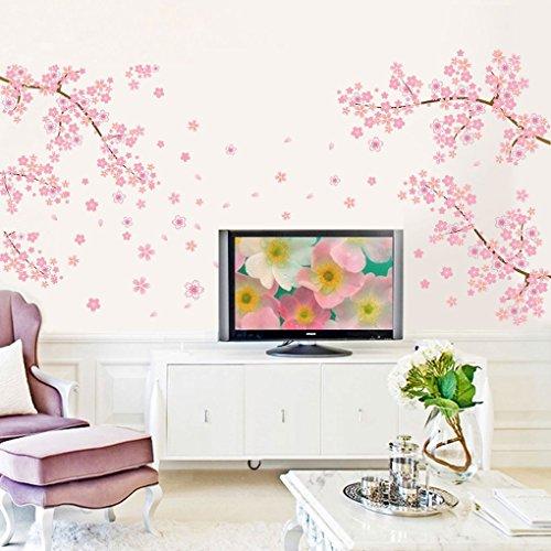 qhgstore ciruelo Prunus Mume Flores extraíble pegatinas de pared mural de adhesivos
