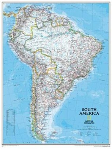 National Geographic RE0620069T Karte von S-damerika - Tubed